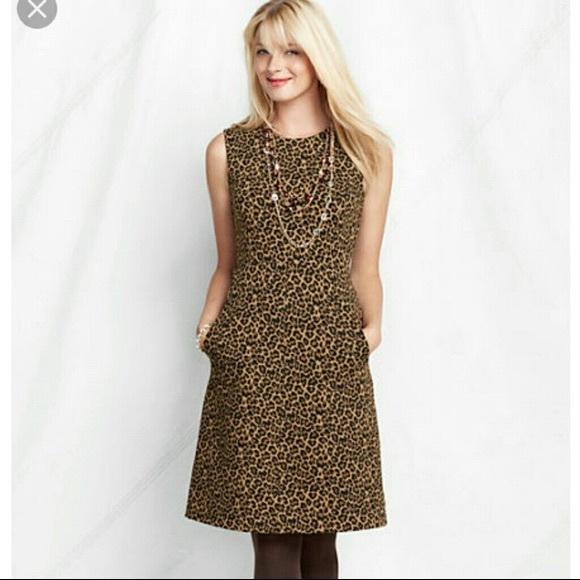 Lands' End Dresses & Skirts - Fantastic Lands End Leopard Shift Dress